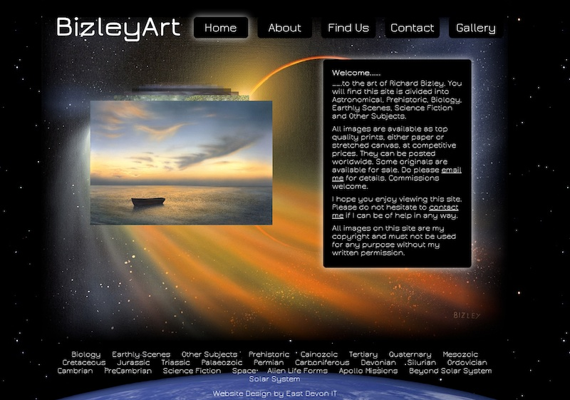 Bizley Art Website Design