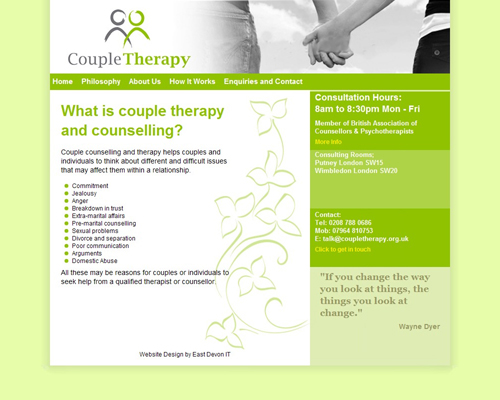 Couple Therapy Website Design