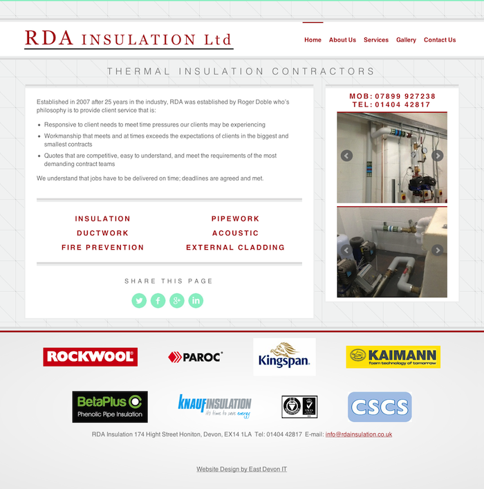 RDA Insulation Web Design