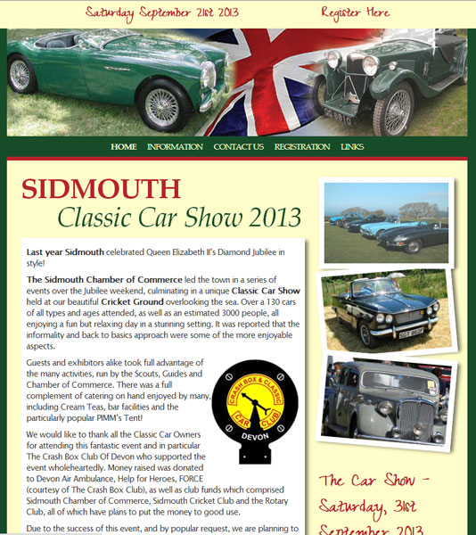 Sidmouth Classic Car Show