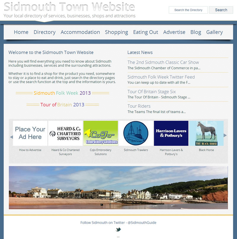 Sidmouth Town Website