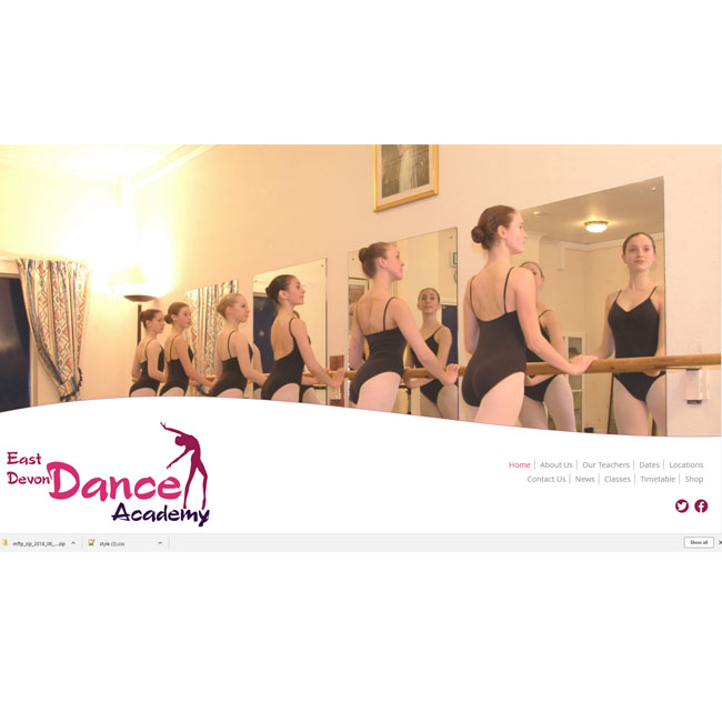 East Devon Dance Website Design