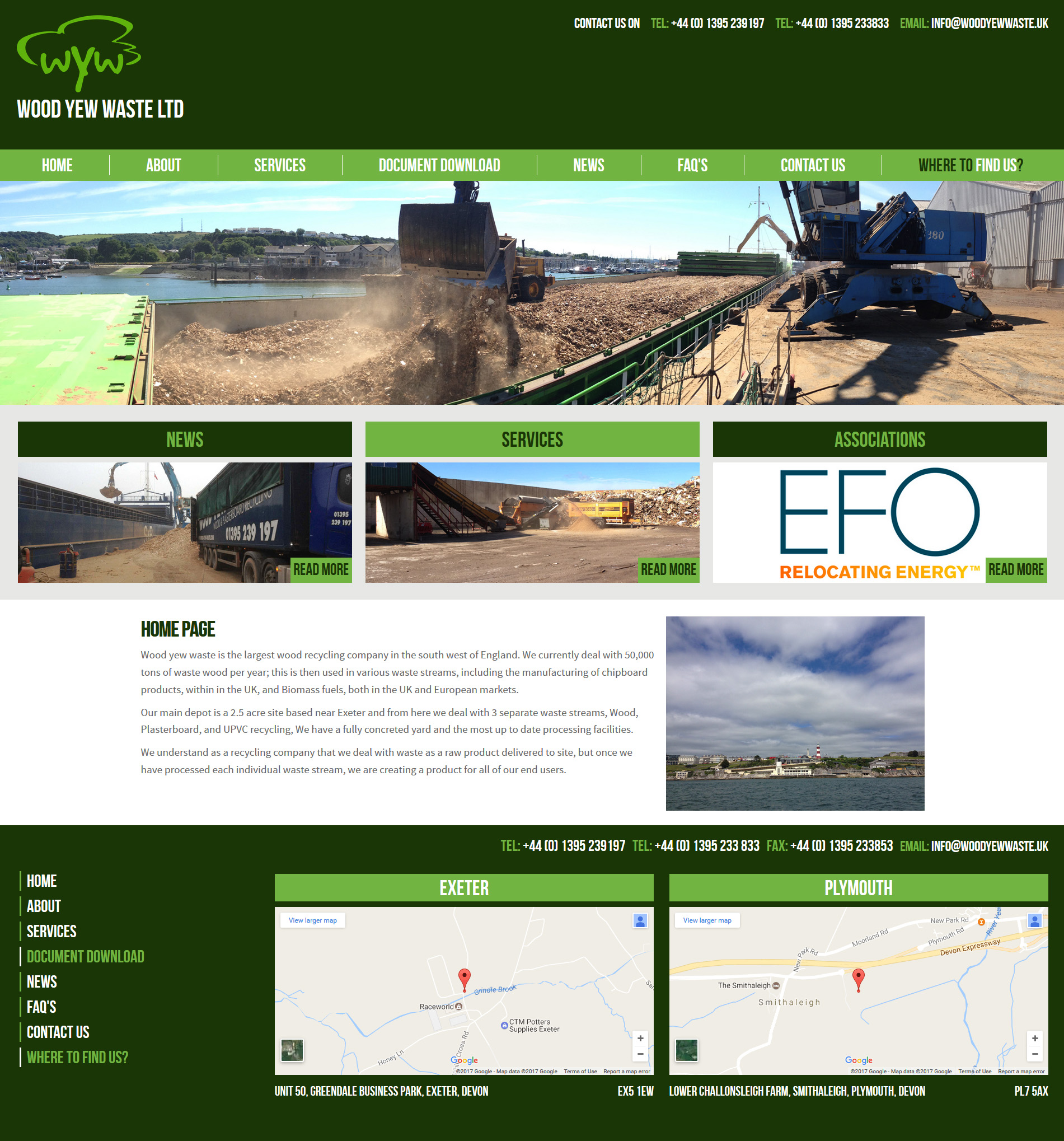 Wood Yew Waste Website Design