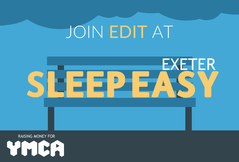 East Devon IT raising money for YMCA on Saturday 12th March at Sleep Easy Exeter