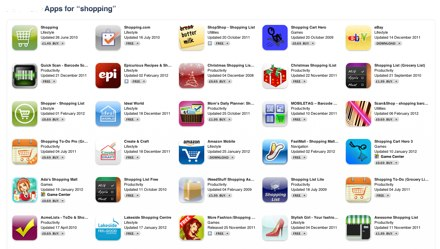 Lots of Mobile Shopping Apps